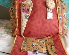Bolsa para artesanato ,patchwork, carton