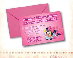 Convite Minnie M�sica
