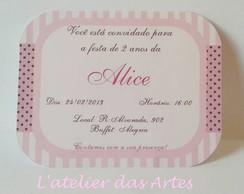 Convite no tubete - po� rosa e marrom