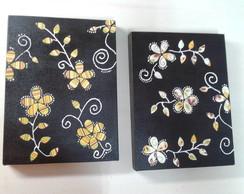 Duo de telas com floral colorido