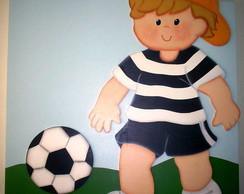 Quadro Painel 60x60 menino futebol