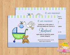 Convite Ch� de Beb� Cegonha