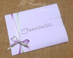 convite TOPAZIO BRANCO COM LIL�S E VERDE