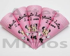 Cone Personalizado Minnie Rosa