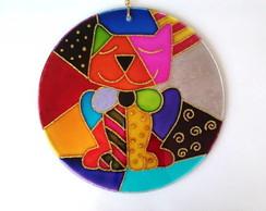 Mandala Do Gato Colorido