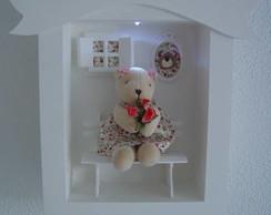 (MA 0123) Quadro maternidade ursa c/ LED