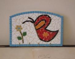 Porta chaves mosaico borboleta