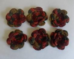 aplique florzinhas de croch�