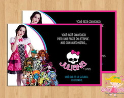 Convite Monster High com foto