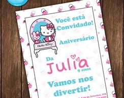 Convite Hello Kitty Shabby Chic