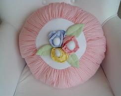 (ALA 0029) Almofada redonda decorativa