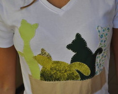 Camiseta Gatos
