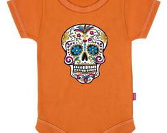 Body Infantil Caveira Mexicana