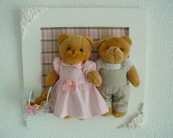 (MA 0141) Quadro maternidade fam�lia urso