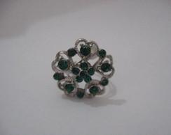 Anel Strass verde - bijuteria