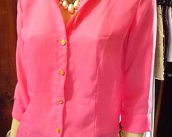 Camisa Musseline Pink Outono Inverno