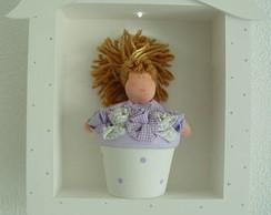 (MA 0121) Quadro maternida boneca c/ LED