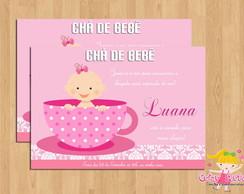 Convite Ch� de Beb� Menina