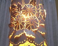 Lumin�ria Pendente Floral