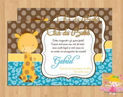 Convite Ch� de Beb� Girafinha