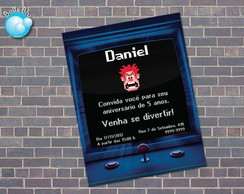 Convite Festa Detona Ralph Fliperama