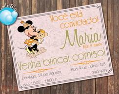 Minnie Disney Vintage Convite p Imprimir