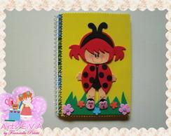 Caderno joaninha pequeno