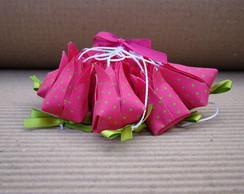 m�bile tulipinhas origami em tecido