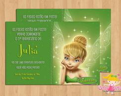 Convite Fada Sininho (TinkerBell)