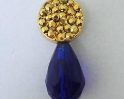 Brinco Dourado e Azul
