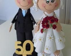 Topo de bolo - 50 anos - Casamento