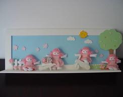 (DA 0010a) Painel bonecas de pano