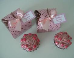 (EM 0040c) Caixinha com cup cake