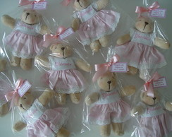 (LC 0205) Lembrancinha ursinha pel�cia