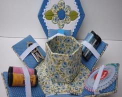 kit costura azul estilo (PROMO��O)