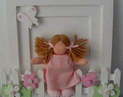 (MA 0103) Quadro mater. boneca no jardim
