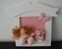 (MA 0102) Quadro maternidade bonequinha