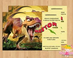 Convite Tiranossauro Rex