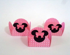 Forminhas Decoradas Minnie rosa pct c/50