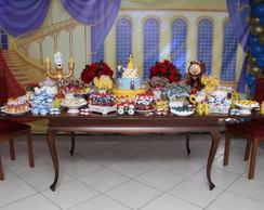 Loca��o Mesa Decorada a Bela e a Fera