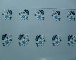 Flor C Borboleta Azul