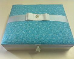 Caixa de Madeira com tampa em tecido