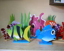 Pain�is De Festa Fundo do Mar Com 40cm