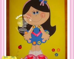 Caderno menina primavera
