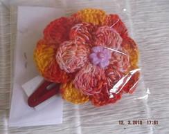 tic tac flor grande aberta em croch�