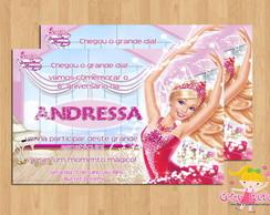Convite Barbie e as Sapatilhas M�gicas