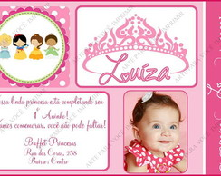 Arte de Convite Princesas Baby