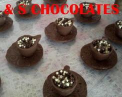 xicara de chocolate