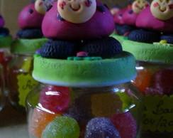 Lembrancinhas biscuit joaninhas