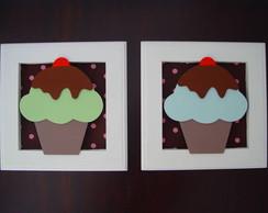 (DA 0026) Quadros decorativos cup cake